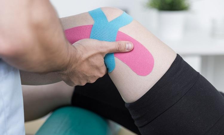Kinesio Tapes für das Knie